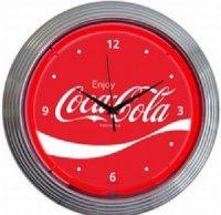 Coca-cola コカ・コーラ ウェーブ ネオンクロック
