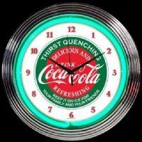 コカ・コーラ エバーグリーン ネオン クロック